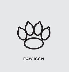 Paw icon vector