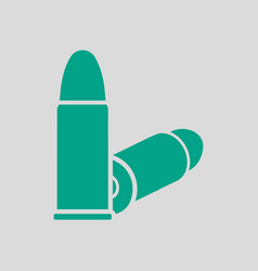 pistol bullets icon vector image
