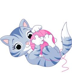 Playful Kitten vector image