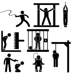 Punishment torture justice death sentence vector