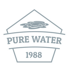 Pure water logo simple gray style vector
