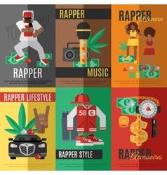 Rap music poster vector