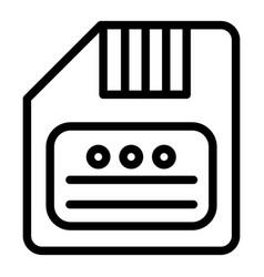 Save line icon diskette vector