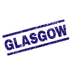scratched textured glasgow stamp seal vector image
