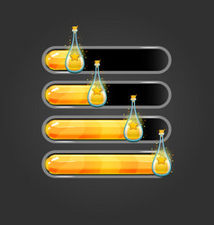 Set bar downloader with elixir bottles vector