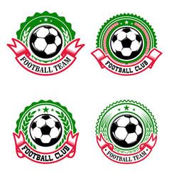 set colorful football club emblems soccer club vector image