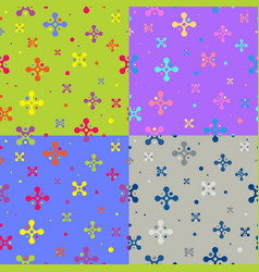 set seamless repeating patterns from color vector image