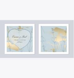 set trendy romantic elegant pastel blue gold vector image