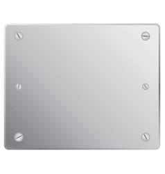 silver plete vector image