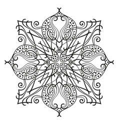 square ornamental mandala isolated design element vector image
