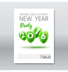 Template invitation new year holiday holiday card vector