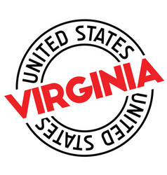 virginia stamp on white vector image