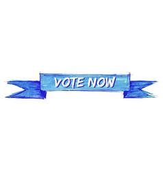 Vote now ribbon vector