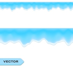 Water Drips or Melting Ice Seamless Border vector image