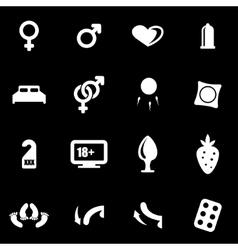 white sex icon set vector image