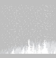 Winter snowy landscape with age-old fir trees vector