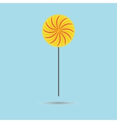 Yellow lollipop vector image
