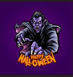 zombie dracula witchcraft happy halloween vector image