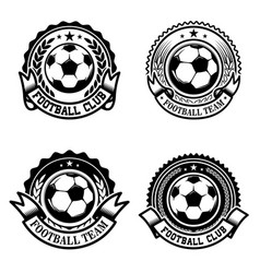 set of soccer football emblems design element for vector image vector image