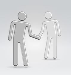 shake hands deal vector image