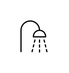 shower icon thin line black on white background vector image