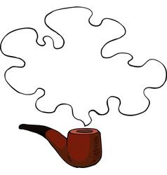 tobacco pipe vector image