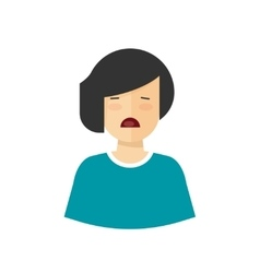 Unhappy woman crying upset girl with sad vector image