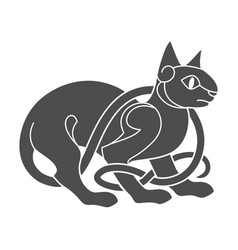 ancient celtic mythological symbol of cat vector image vector image