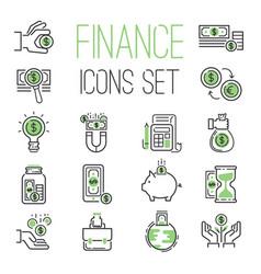 finance money business outline black wealth vector image