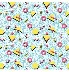 Seamless abstract pattern fashion 80-90s vector