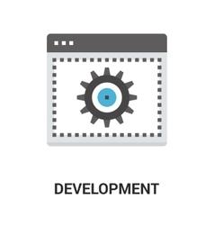 web development icon vector image vector image