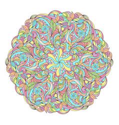 abstract colorful mandala vector image