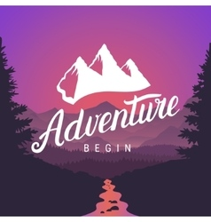 Adventure logo lettering calligraphy Outdoor vector image vector image