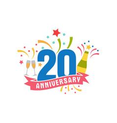 anniversary twenty years number vector image vector image