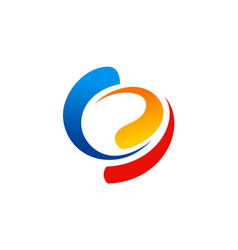 circle colorful swirl abstract logo vector image vector image