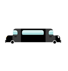 limousine black isolated transport on white vector image
