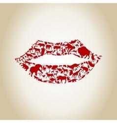 Lip an animal vector image vector image