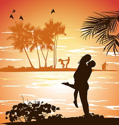 man embraces woman vector image vector image