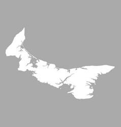 Map of prince edward island vector