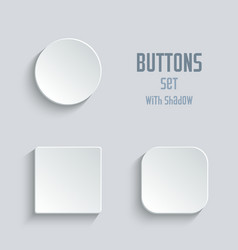 Media icons set - white app buttons vector