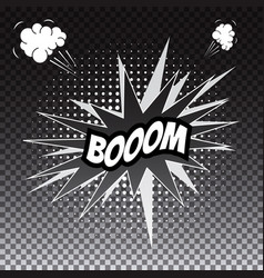 pop art comic speech bubble boom vector image