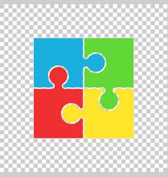 Puzzle icon flat vector