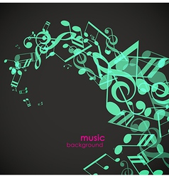 Abstract background with green tunes vector image vector image
