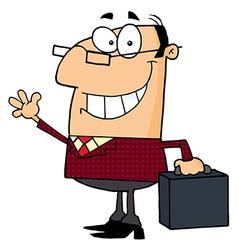 Businessman Waving A Greeting vector image vector image