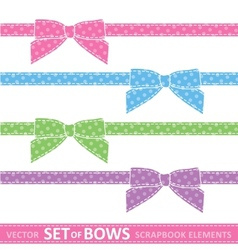 set of bows vector image