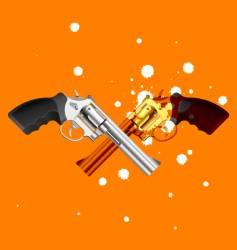 two guns vector image vector image