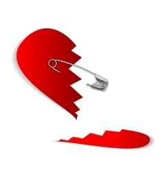 23 pinned heart vector