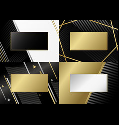 abstract luxury background design line vector image