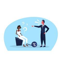 African businesswoman question marks chain bound vector