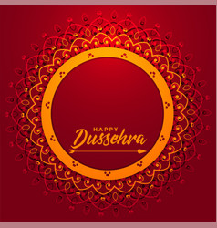 Artistic happy dussehra festival card with text vector